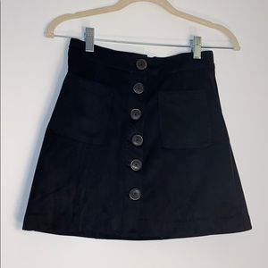 BRAND NEW w/ TAGS Zara Suede Mini Skirt